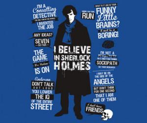 Sherlock Holmes Quotes T-Shirt - BBC TV Show