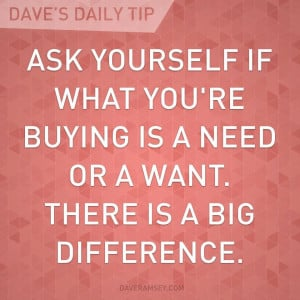 """... people if what they are thinking of buying is a """"want or a need"""