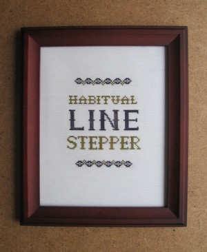 Dave Chappelle's Show Quote Cross Stitch Pattern: Line Stepper via ...