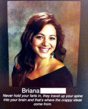 funny yearbook quotes hold farts