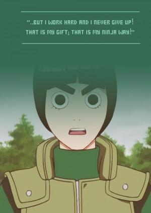 ... Quotes, Rocks Lee Naruto, Naruto Quotes, Lee Rocks, Rock Lee, Lee