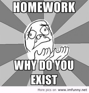 Homework why do you exist? / Funny Pictures, Funny Quotes – Photos ...