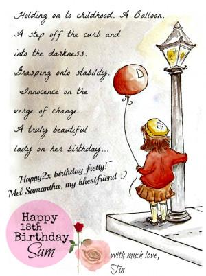funny 18th funny birthday poems 18th i wish a happy happy birthday ...
