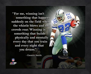 Dallas Cowboys Emmitt Smith NFL Framed Pro Quote