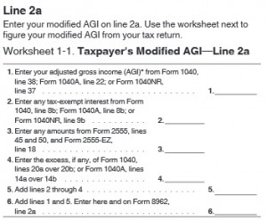 Excerpt from IRS 1040 Tax Form – Click to view full form Tax Payer ...