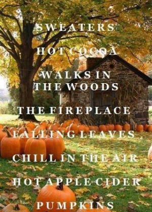 Falling Leaves ~ Pumpkins ~ Fireplace ~ I Love Fall