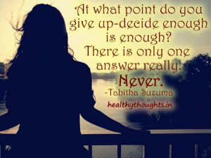 """There is NO """"Time"""" to Give Up!"""