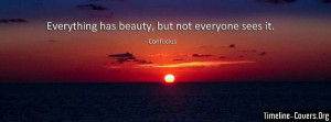 Confucius Beauty Quote Fb Cover