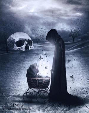 creepy, dark art, scary, death, darkness