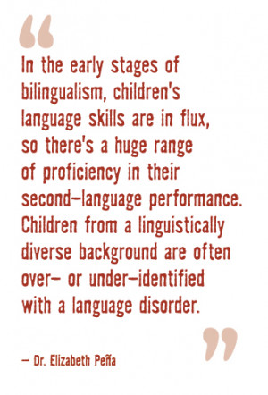 In the early stages of bilingualism, children's language skills are in ...