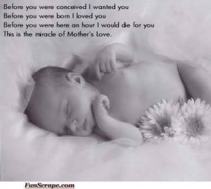 Sweety Babies Mother Love quote