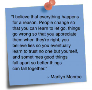 everything happens for a reason change picture quote