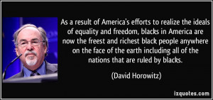 efforts to realize the ideals of equality and freedom, blacks ...