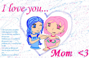 love you mom now i lay me down to sleep i dream of a love so very ...