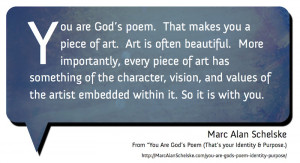Quote: Identity? You Are God's Poem
