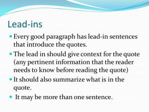 What is the lead in the argument essay