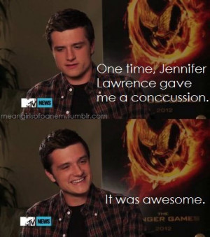 Lol Josh Hutcherson talking about the time Jennifer Lawrence gave him ...