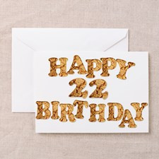 22nd birthday card for a cookie lover Greeting Car for