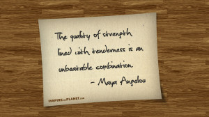 Quots Strength Tenderness Maya Angelou Quote Wallpaper with 1280x720 ...