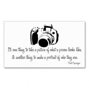 Professional Photographer Quote Business Card D2