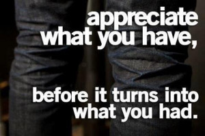 Don't take anything for granted