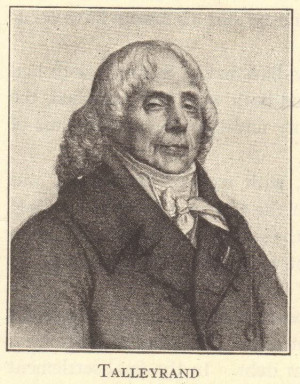 Prime Minister Charles Maurice de Talleyrand of France.