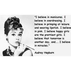 Audrey Hepburn. Enough said.