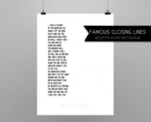 ULYSSES // JAMES JOYCE // quote poster // Select a by EndQuoteArt, $30 ...