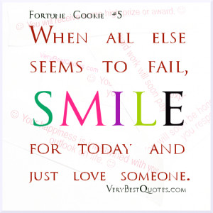 ... When all else seems to fail, smile for today and just love someone