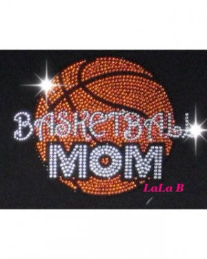 Basketball mom iron on hot fix rhinestone bling transfer - DIY motif ...