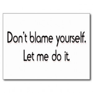 Don't blame yourself postcards