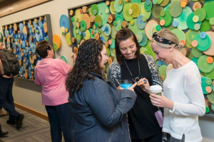 Coworkers read inspirational quotes - Cambia Health Solutions ...