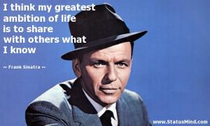 Frank Sinatra Quotes Frank sinatra quotes