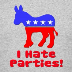 Hate Parties Democrat Politics T-Shirts