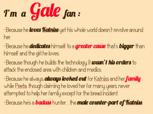 Hunger Games: Why I'm a Gale Fan