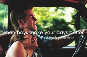 car, cute quotes, day, him, i love him, laugh, love, lovers, my love ...
