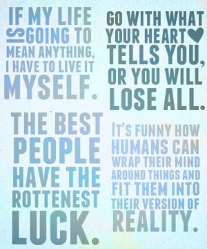 Favorite PJO quotes → The Lightning Thief.