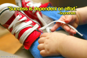 """Success is dependent on effort."""" ~ Sophocles"""