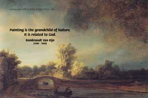 Landscape with a Stone Bridge (1638), Rembrandt Harmenszoon van Rijn ...