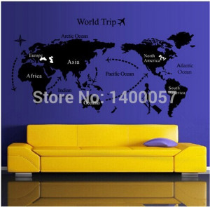 ... Large Area Wallpapers Black Wall Quote Office Decor Free Shopping