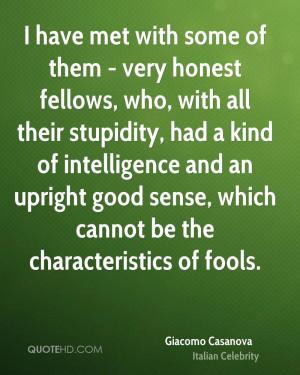 Giacomo Casanova Intelligence Quotes
