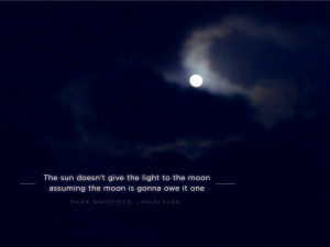 The sun doesn't give the light to the moon assuming…
