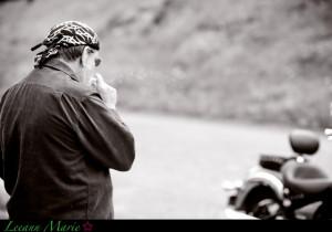 My dad loves his motorcycle! Born to ride, dad!