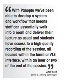 ... Scheduling Challenge into an Opportunity — with Lecture Capture