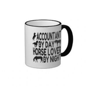 Horse Lover Accountant Mug
