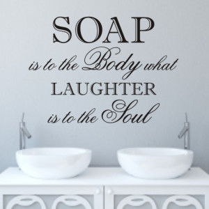 Laughter' Bathroom wall quote sticker - WA098X