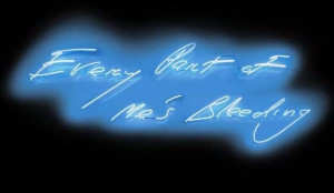 Every Part of Me's Bleeding, 1999, Tracey Emin, Lehmann Maupin Gallery ...