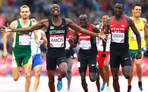 Nijel Amos and David Rudisha - David Rudisha is beaten by Nijel Amos ...