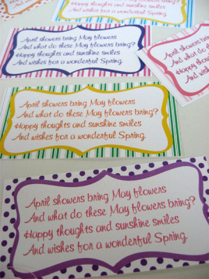 Download the May Day poem gift tags, attach to your May flowers and ...