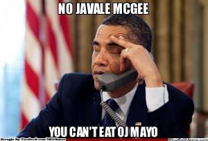 Meme: Barack Obama se moque de JaVale McGee